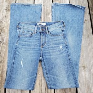 Banana Republic Distres Flare jeans Size 24 Petite